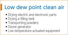 Low dew point clean air