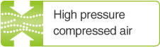 High pressure compressed air