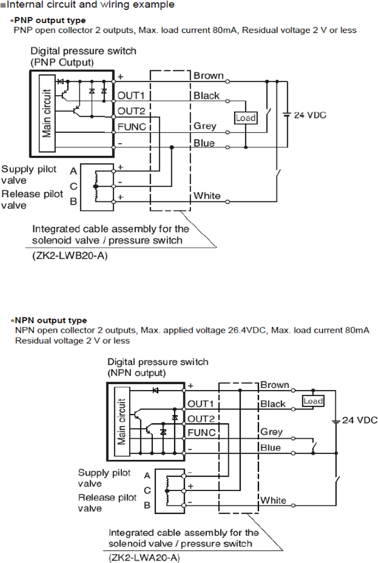Smc Faq Double Switch Wiring Diagram Dc In Order To Hold The Vacuum Check Valve Inside Zk2 Is Thus Preventing From Being Broken Unless Release Opened